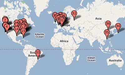 Google datacenters around the world